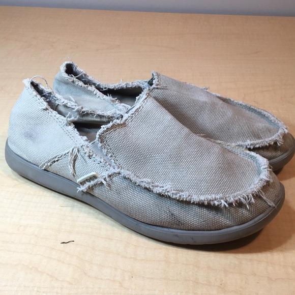 Men Crocs Canvas Slip On Loafer Comfort